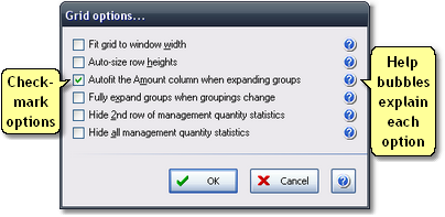 ManagePLUS for QuickBooks ref dlg gridoptions2 Grid Options dialog