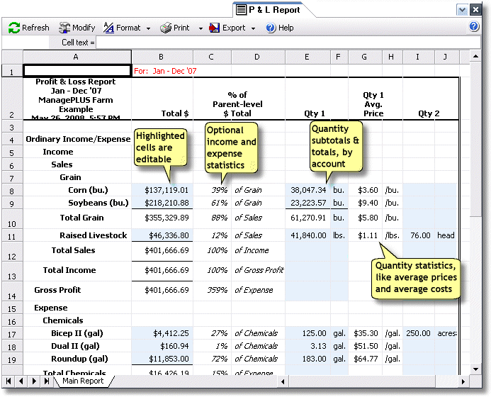 ManagePLUS for QuickBooks refreppnl4 Entering two quantities in transactions