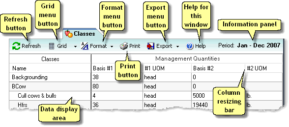ManagePLUS for QuickBooks uidatawindowsclassestab2 Data windows (tabs)