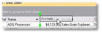 ManagePLUS for QuickBooks uigridscolorder5 Choosing and arranging grid columns