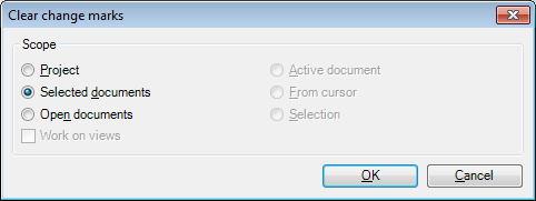 MemoQ clear change marks dialog Clear change marks (dialog)
