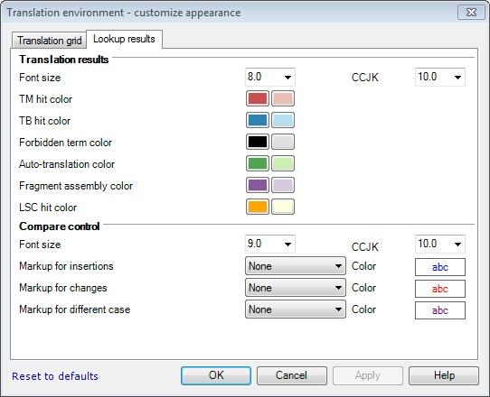 MemoQ costumize appearance 2 Customize appearance