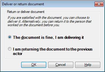 MemoQ deliver or return dialog Deliver or return document (dialog)