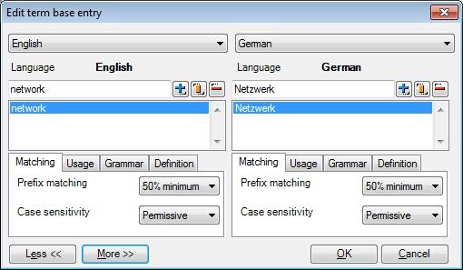 MemoQ edit tb entry 2 Edit term base entry