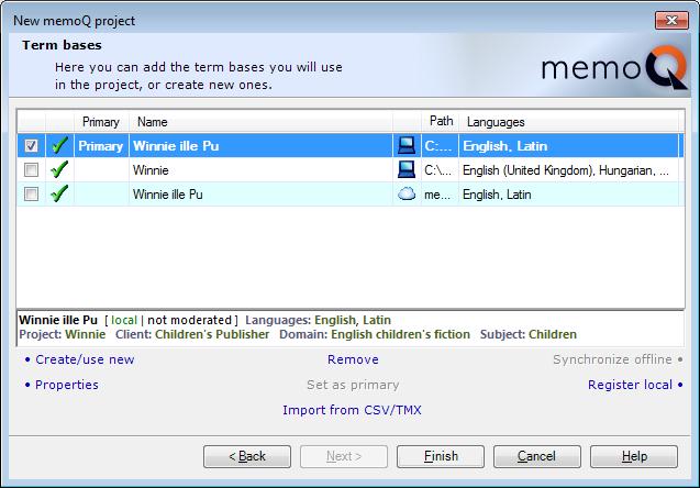 MemoQ howto projwiz 4 New memoQ project wizard 4   Term bases