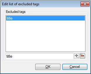 MemoQ html filter edit list of excluded tags HTML documents (Hypertext Markup Language)
