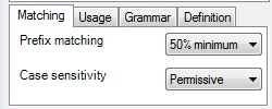 MemoQ matching tab Edit term base entry