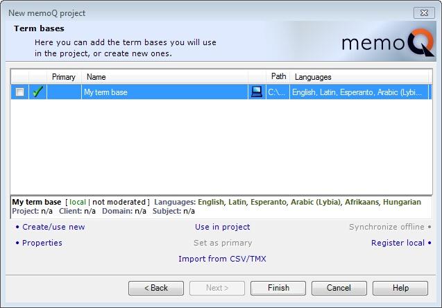 MemoQ new memoq .project wizard 4 New memoQ project wizard