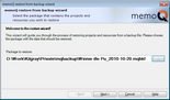 MemoQ restore from backup wizard howto 1.zoom25 Transfer a project to another PC