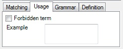 MemoQ usage tab Edit term base
