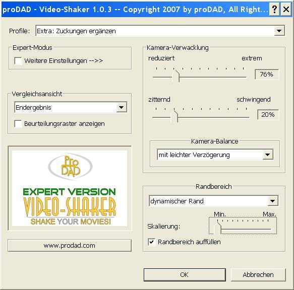 Mercalli videoshaker01 Video Shaker / Verwacklungen künstlich erzeugt !
