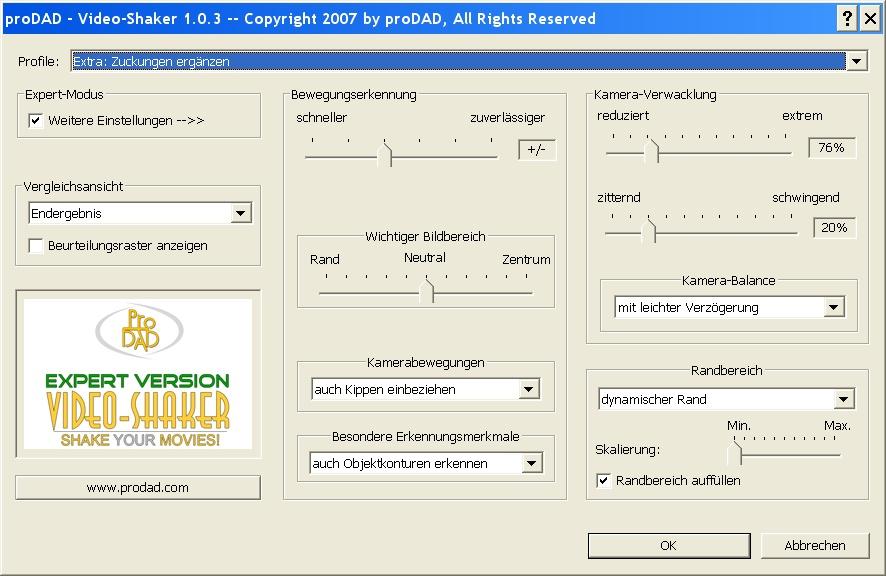 Mercalli videoshaker02 Video Shaker / Verwacklungen künstlich erzeugt !