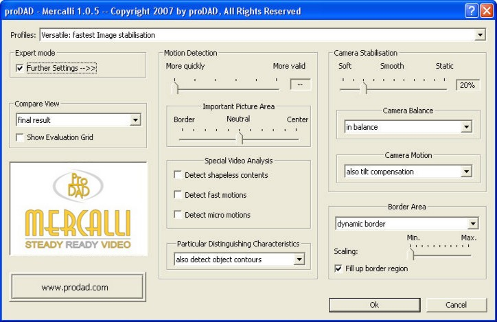 Mercalli Clip2 Expert mode for manual optimisation