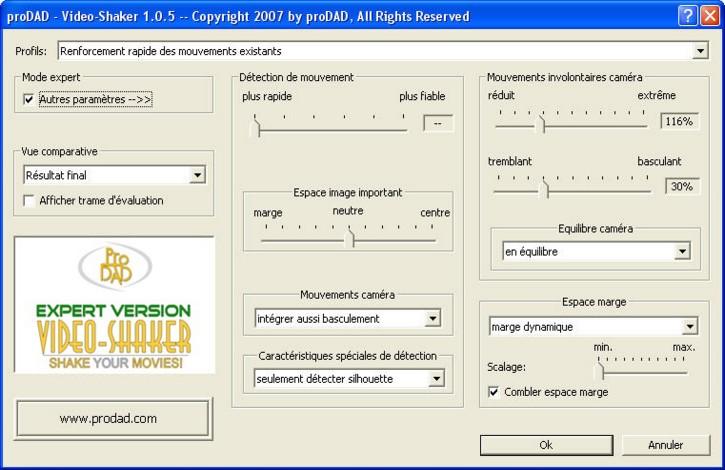 Mercalli videoshaker02 Video Shaker / créer des bougés artificiellement !