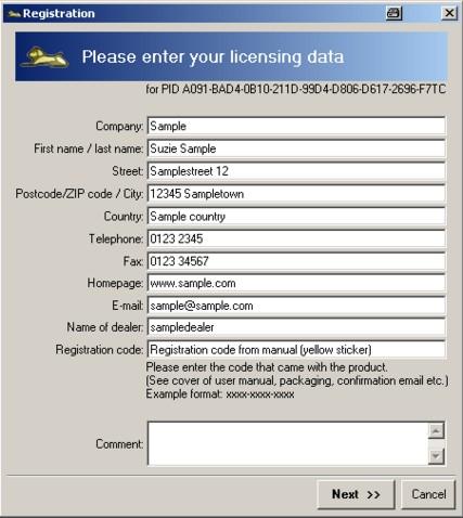 Mercalli Register1a Registratie / sleutelaanvraag