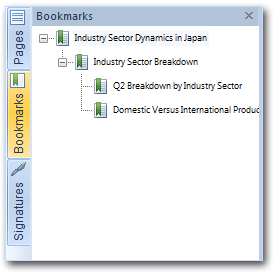 NitroPDF bookmarks pane Navigation Panes