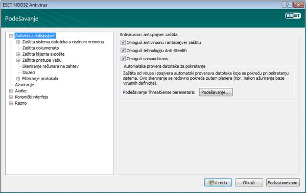 Nod32 ea config antivirus Zaštita od virusa i spajvera – podešavanje