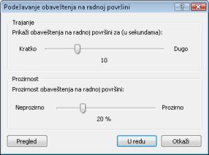 Nod32 ea config desktop Podešavanje obaveštenja radne površine