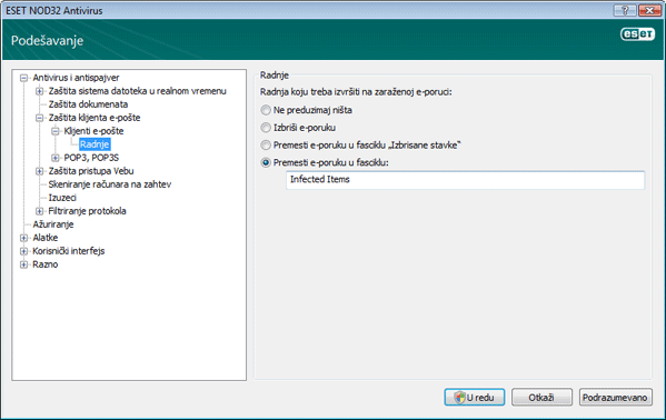Nod32 ea config emon outlook Radnje