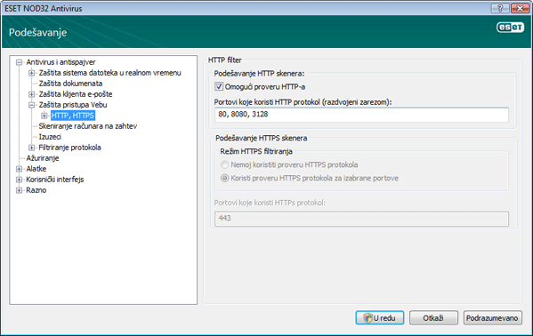 Nod32 ea config epfw scan http Filter za HTTP