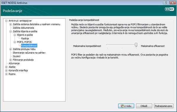 Nod32 ea config epfw scan pop3 comp Kompatibilnost