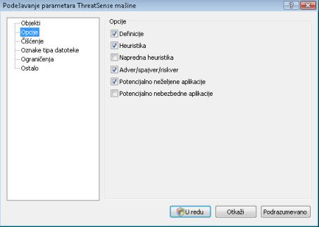 Nod32 ea config method Opcije