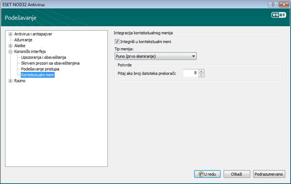 Nod32 ea config shellext Kontekstualni meni
