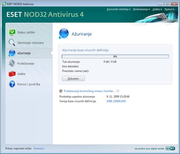 Nod32 ea page update 02 Ažuriranje