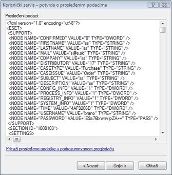 Nod32 ea support detect Potvrda prosleđenih podataka