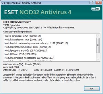 Nod32 ea about O aplikaci ESET NOD32 Antivirus