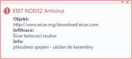 Nod32 ea antivirus behavior and user interaction Správa antivirové ochrany a interakce s uživatelem
