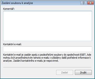 Nod32 ea charon file Zaslání souboru k analýze