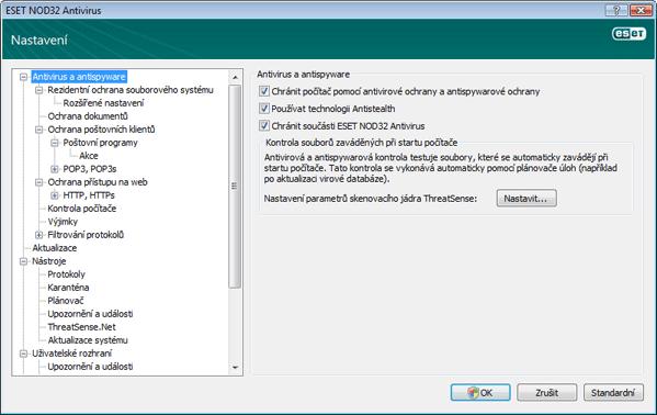 Nod32 ea config antivirus Antivir a antispyware   Nastavení