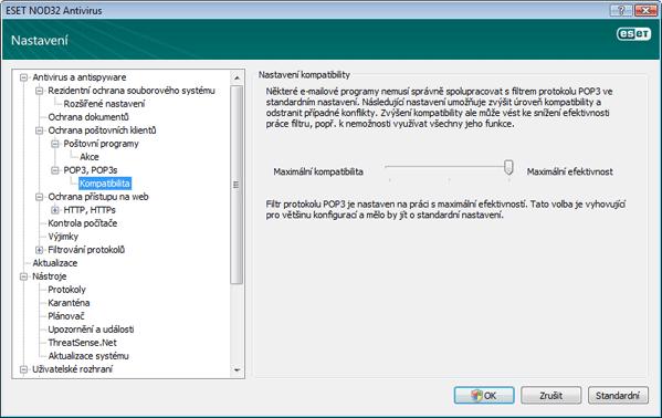 Nod32 ea config epfw scan pop3 comp Kompatibilita