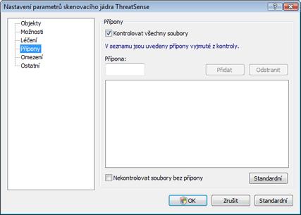 Nod32 ea config extension Přípony