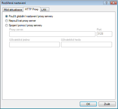 Nod32 ea config update connection HTTP Proxy   nastavení aktualizace