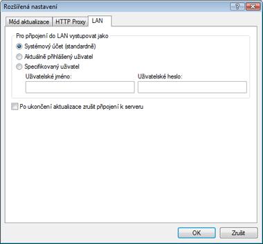 Nod32 ea config update lan Nastavení přístupu do LAN