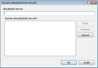 Nod32 ea config update servers Seznam aktualizačních serverů