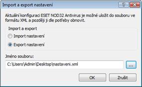 Nod32 ea importexport config Import / Export