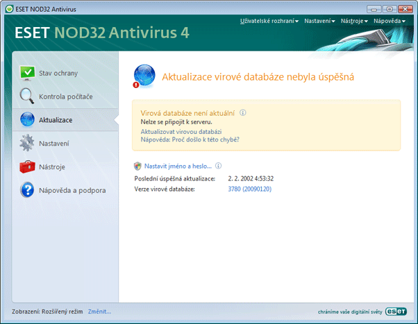 Nod32 ea page update 03 Aktualizace