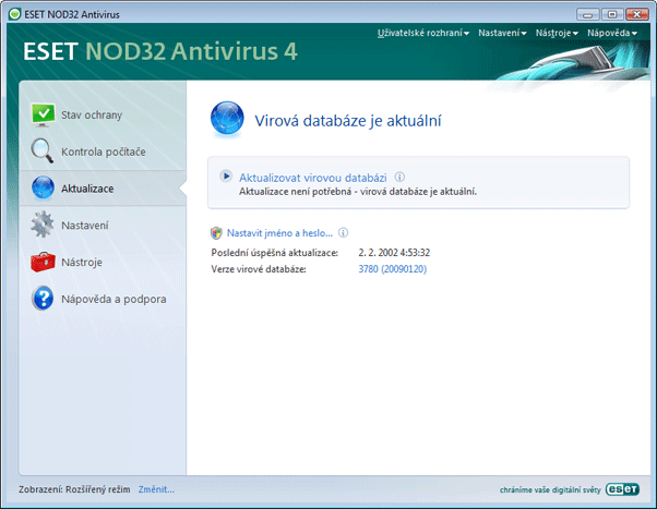 Nod32 ea update main Aktualizace