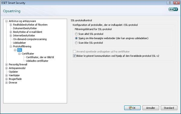 Nod32 config epfw ssl SSL