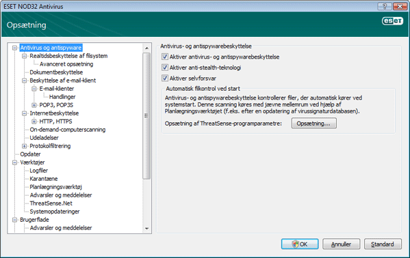 Nod32 ea config antivirus Antivirus  og antispywarebeskyttelse   opsætning