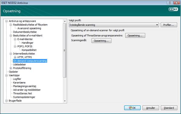 Nod32 ea config scan On demand computerscanning