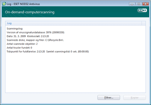 Nod32 ea log window Logfiler   nyt vindue