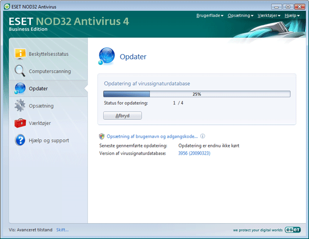 Nod32 ea page update 02 Opdatering