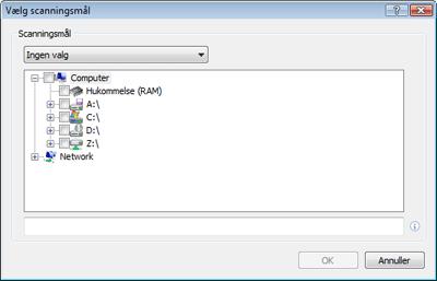 Nod32 ea profile target Vælg scanningsmål
