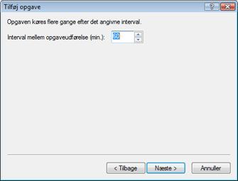 Nod32 ea scheduler repeat Tilføj opgave   gentagne gange