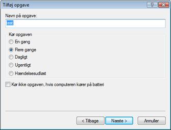 Nod32 ea scheduler type Tilføj opgave   opgavetype