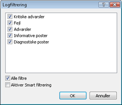 Nod32 log filter Logfiltrering
